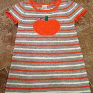 GYMBOREE Halloween Fall Pumpkin Sweater Dress sz 5